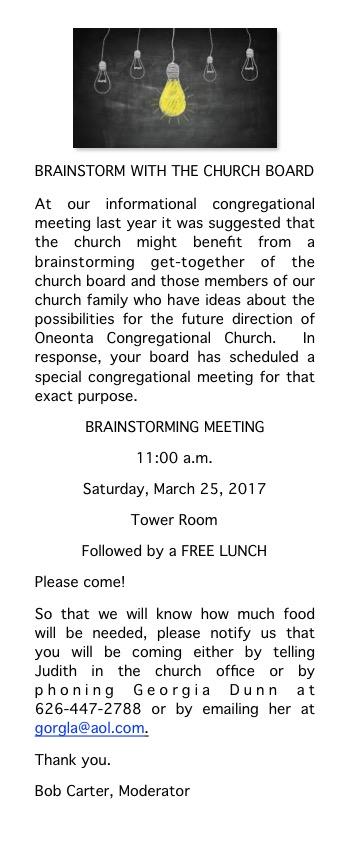 Brainstorm w Church Board