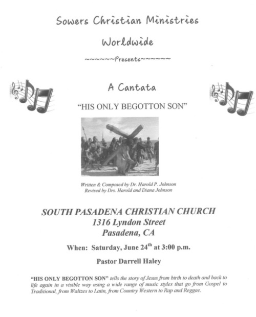 Sowers Cantata Flyer