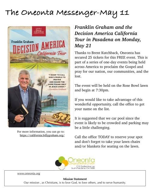 5.21.18 - Franklin Graham Decision America