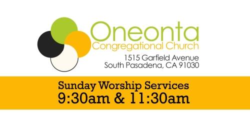 Oneonta - worship times2