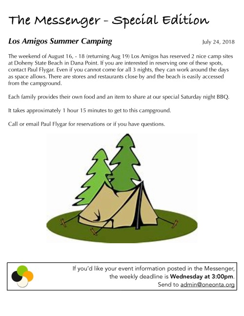 The Messenger 7-23-18 Los Amigos Camping