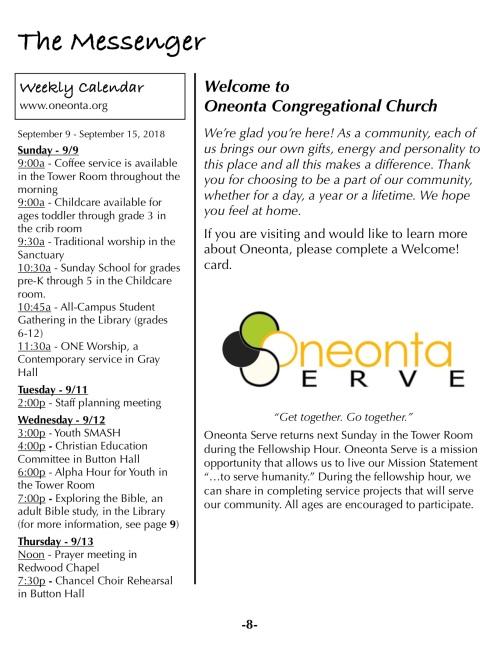 OOW:Messenger 9-9-18 p8